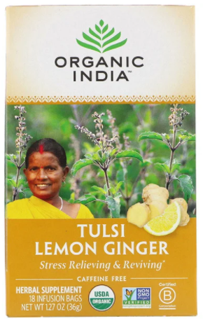 Organic India Organic Tulsi Tea Lemon Ginger 18pcs