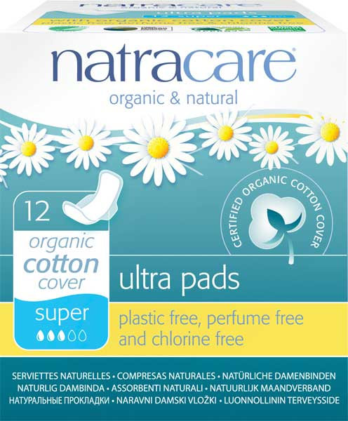 Natracare Ultra Pads Wings Super 12pcs