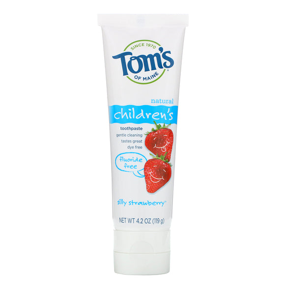Toms Kids Toothpaste Fluoride Free Strawberry 5.1oz