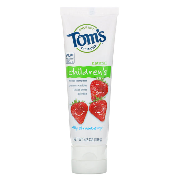 Toms Kids Toothpaste Fluoride, Strawberry 5.1oz