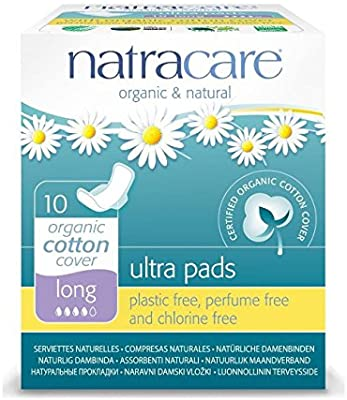 Natracare Ultra Pads Long Organic Cotton Cover 10pcs