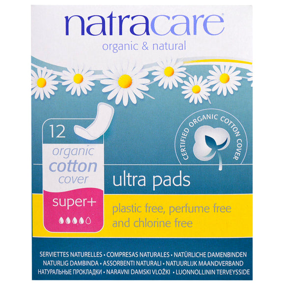 Natracare Ultra Pads Super+ Organic Cotton Cover 12pcs