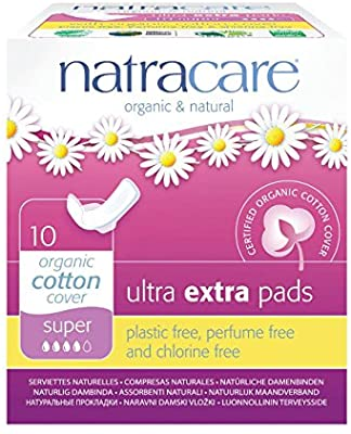 Natracare Ultra Extra Pads Super Organic Cotton Cover 10pcs