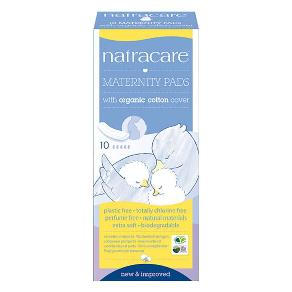 Natracare Maternity Pads with Organic Cotton Cover 10pcs
