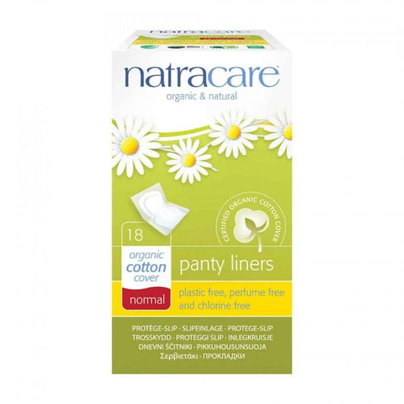Natracare Panty Liners Organic Cotton Cover Normal 18pcs