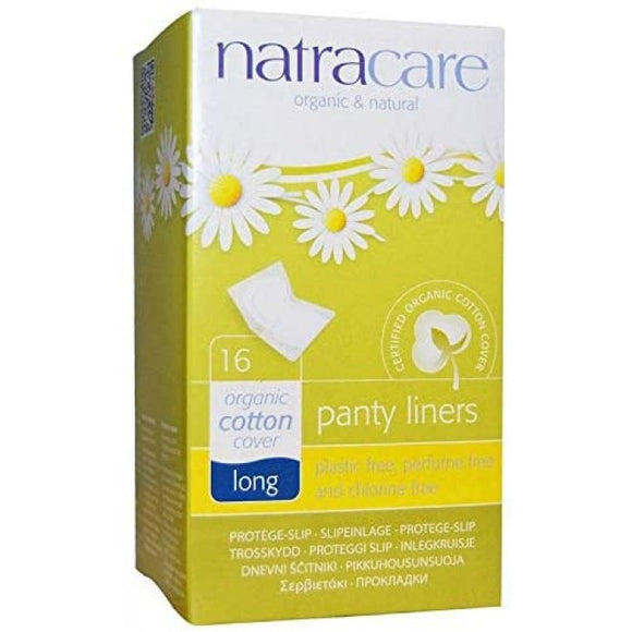 Natracare Panty Liners Organic Cotton Cover Long 16pcs