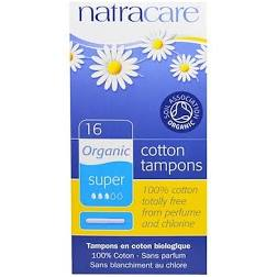 Natracare Cotton Tampons Organic Super 16pcs