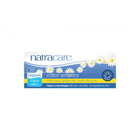Natracare Cotton Tampons Organic Super 20pcs
