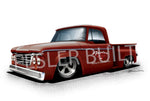 Fesler USA 1963 Dodge Pickup Red Print
