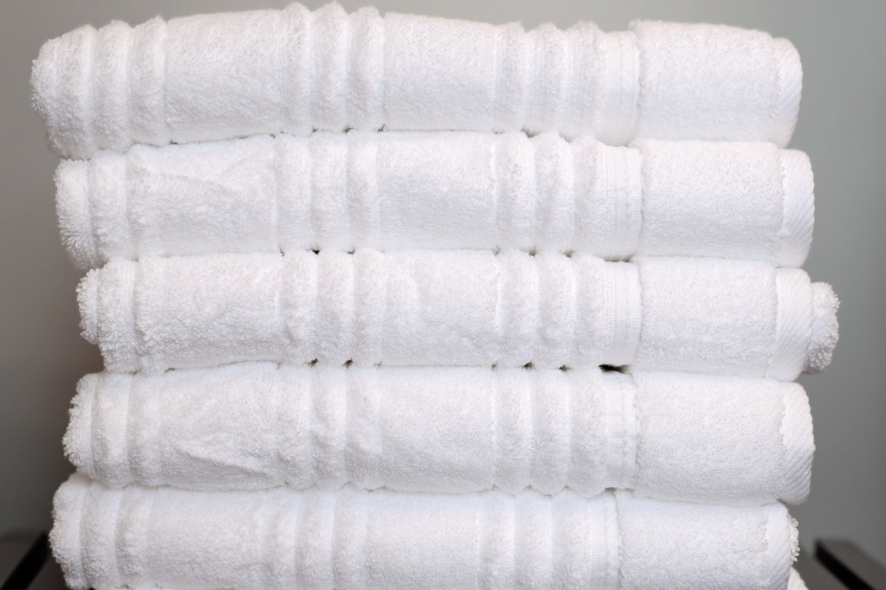 how to fold towels concept-stacked towels