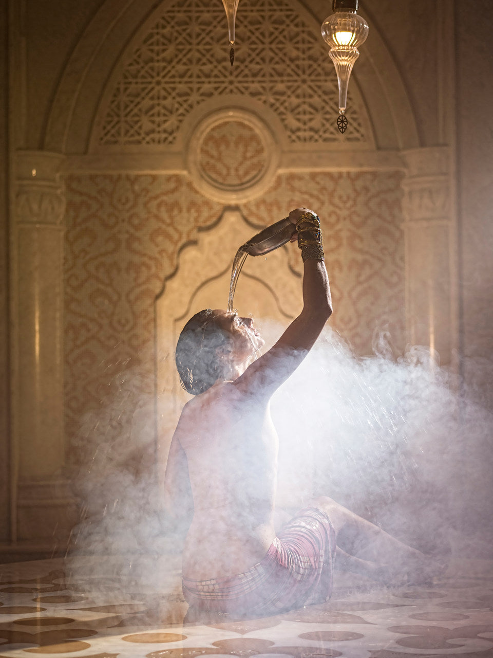 woman in turkish bath