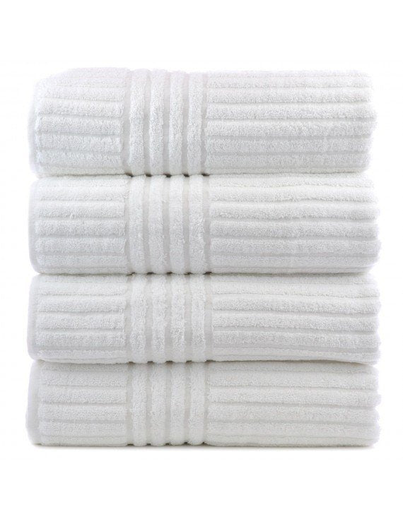 Striped Bath Towels, 100% Cotton