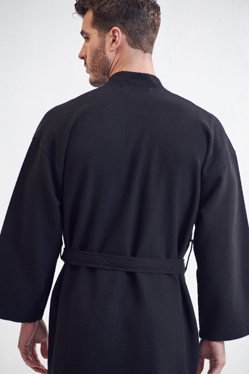 Men's Spa Bathrobe, Black