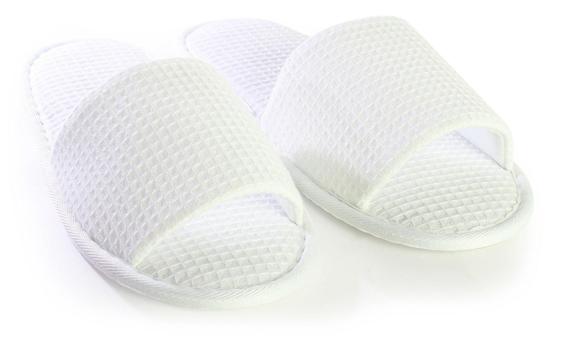 Adult Open Toe Waffle Slippers