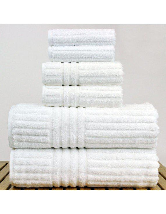 Striped Towel Set, 100% Cotton, 6 Pack