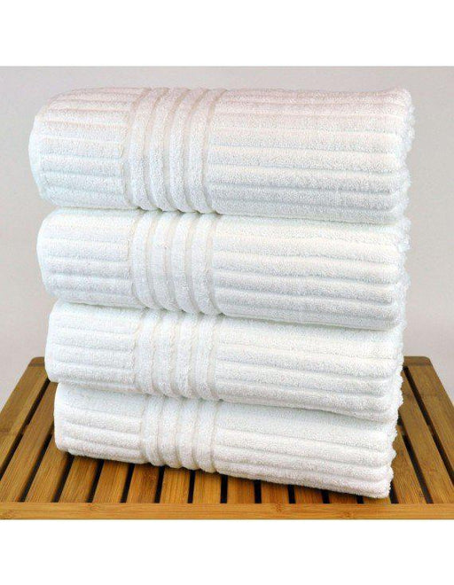 Striped Towel Set, 100% Turkish Cotton, 6 Pack