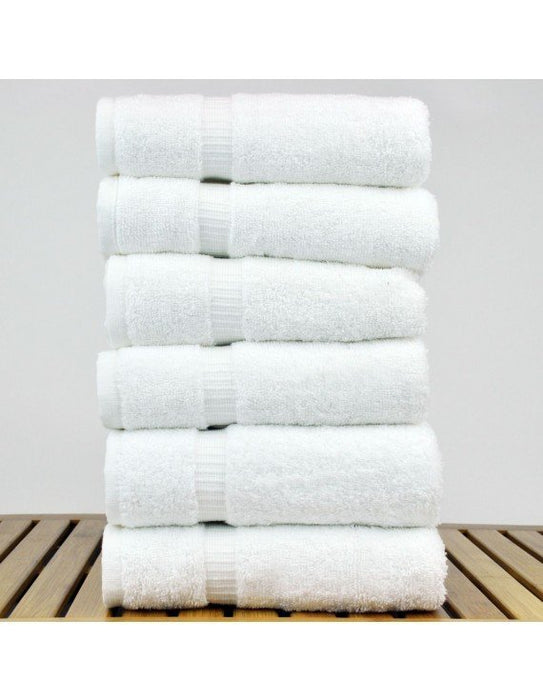 Dobby Border Hand Towels, 100% Cotton