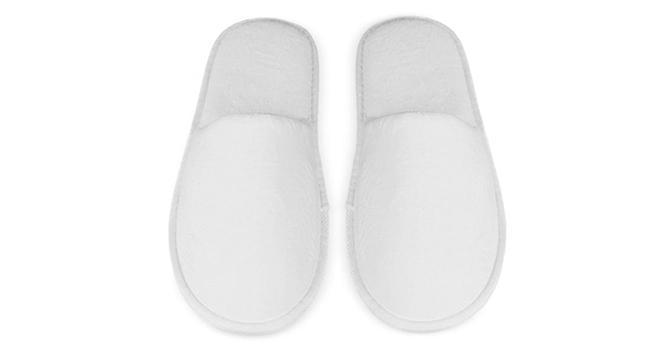 Kids Closed Toe Velour Slippers