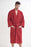 Men's Terry Burgundy Bathrobe, Kimono Style