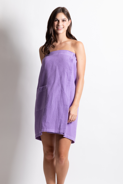Women's Waffle Body Wrap, Adjustable Lavender