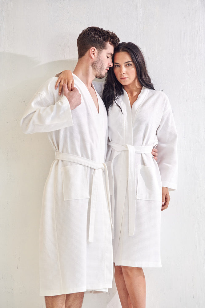 Men's Spa Bathrobe, White