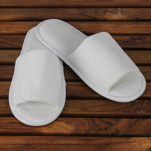 Adult Open Toe Velour Slippers