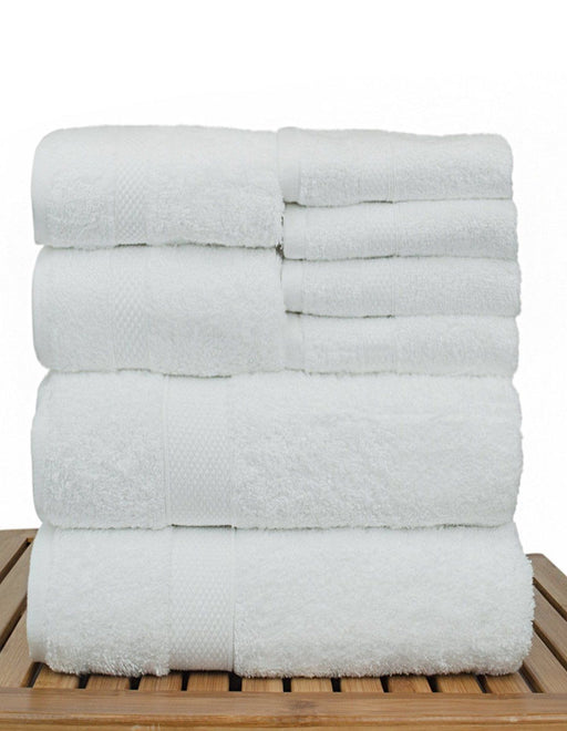 Bamboo Towel Set, 100% Turkish Cotton, 8 Pack