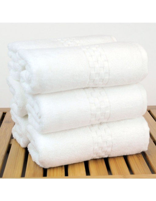 Checkered Towel Set, 100% Turkish Cotton, 6 Pack