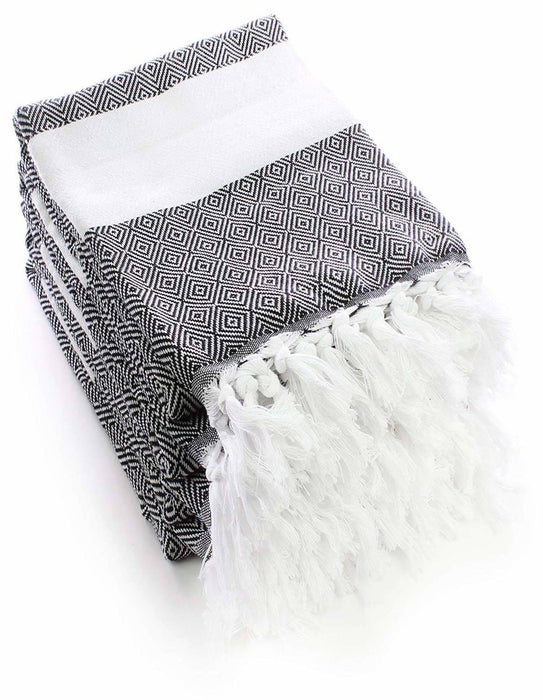 Genuine Flat Woven Turkish Peshtemals, 100% Cotton, 4 Pack