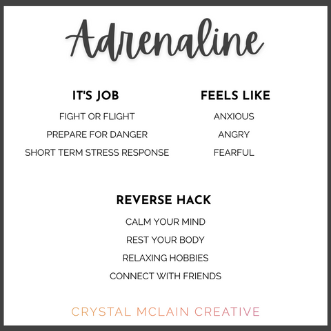 CRYSTAL MCLAIN CREATIVE ADRENALINE PURPOSE FEELS LIKE AND HACKS