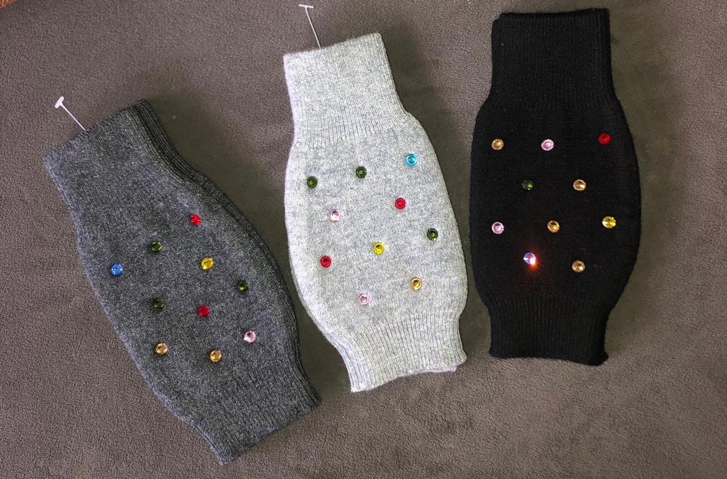 Colorful Stone Fingerless Gloves