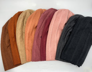 The rainbow cardigan beanie