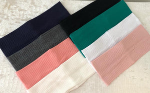 PLAIN LIGHTWEIGHT RIBBED COLORED BANDS (8 COLORS)