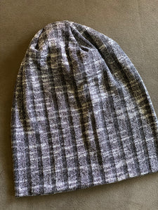 Soft jersey-like wide ribbed beanie