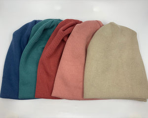 Solid thick luxe ribbed beanie