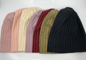 Double Strip Fitted Beanie