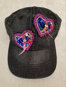 WHIMSY PURPLE HEART CAP (2 COLORS)