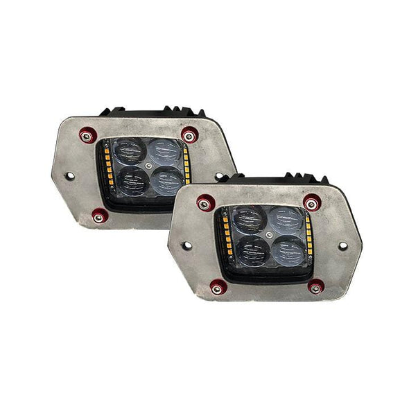 An image of a pair of APS Accent Flush Mount LED vehicle lights