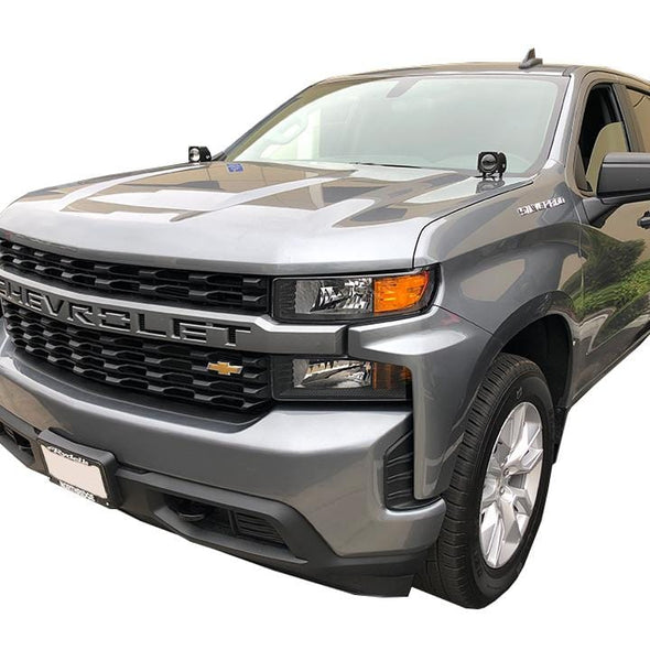 2019 Chevy Silverado Hood Hinge Led Light Pod Mounts or 2019 Chevy Silverado A - Pillar Led Light Pod Mounts Ditch Lights