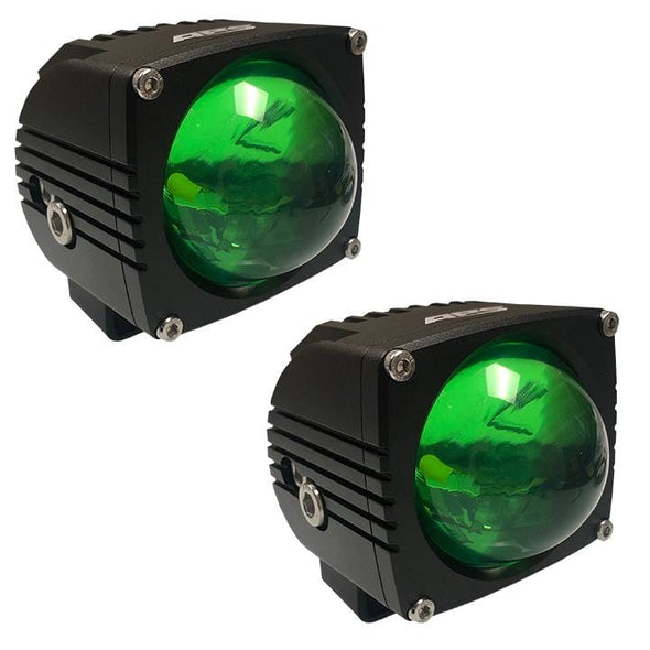 APS ULTRA BEAM GREEN LED LIGHT PODS