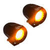An image of two APS H1 amber LED light pods