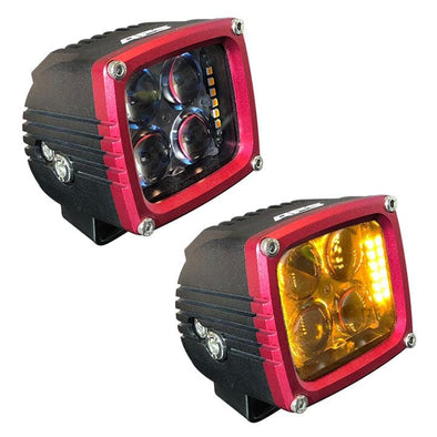 Off-Road Auxiliary LED Lights -  Red APS Accent Light Pods - 8400 Lumen pair