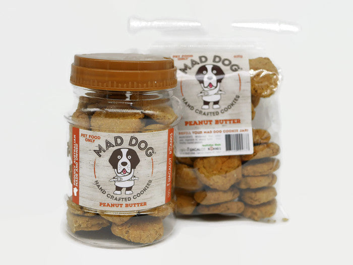 Mad Dog Peanut Butter Cookie Jar 400G and Refill Pack 400G