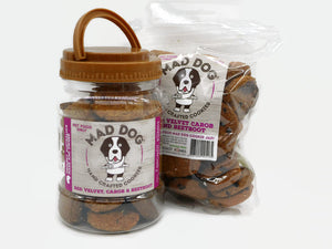 Mad Dog Red Velvet Cookie Jar 400G and Refill Pack 400G