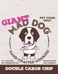 Mad Dog Giant Double Carob Chip Cookie - approx 75 grams