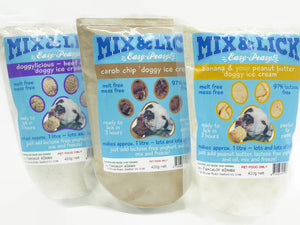 Mix & Lick Triple Pack (3 X 420G Bags - 1 Of Each Flavour) Comes With 10 Dixie Cups and 10 Scoops.