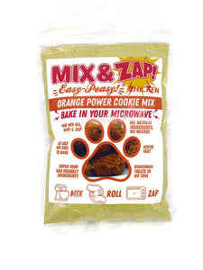 Mix & Zap Orange Power - make at home microwave chicken, pumpkin and turmeric dog cookies