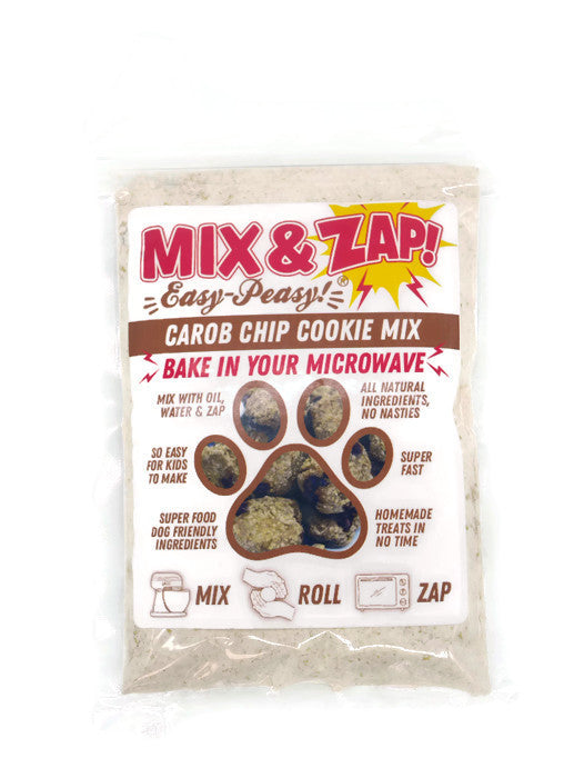 Mix & Zap - make at home microwave Carob Chip dog cookies