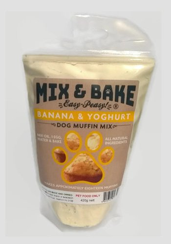 Mix & Bake Banana Muffin 420 gram bag of dog muffin mix