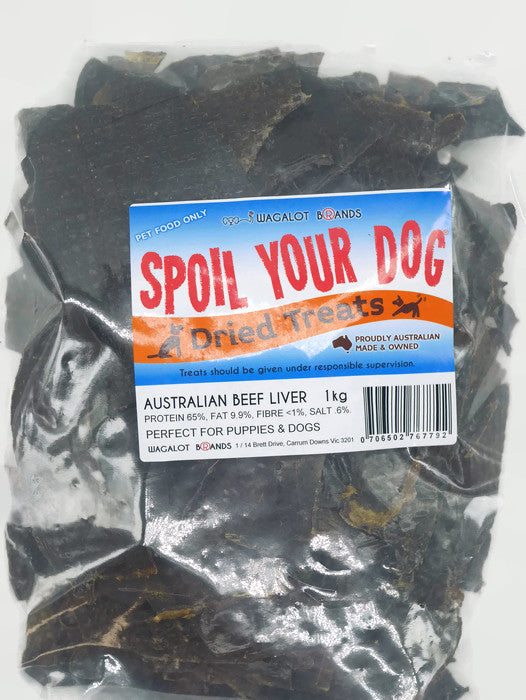 Spoil Your Dog Beef Liver 1 kg resealable bag